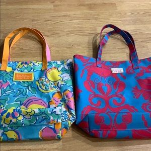 Lot of 2 Lilly Pulitzer Estee Lauder Tote Bags